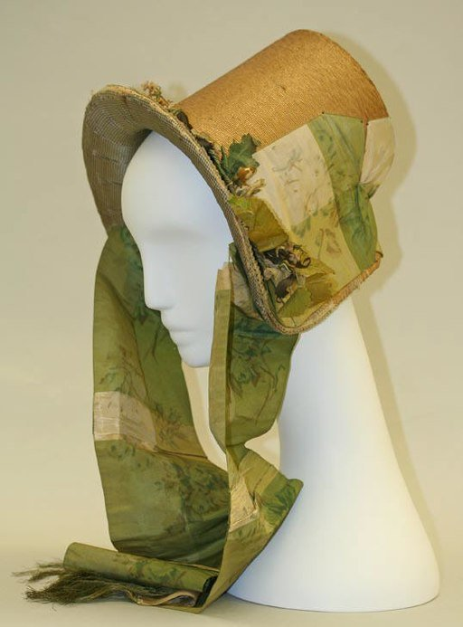 Straw Bonnet c. 1840