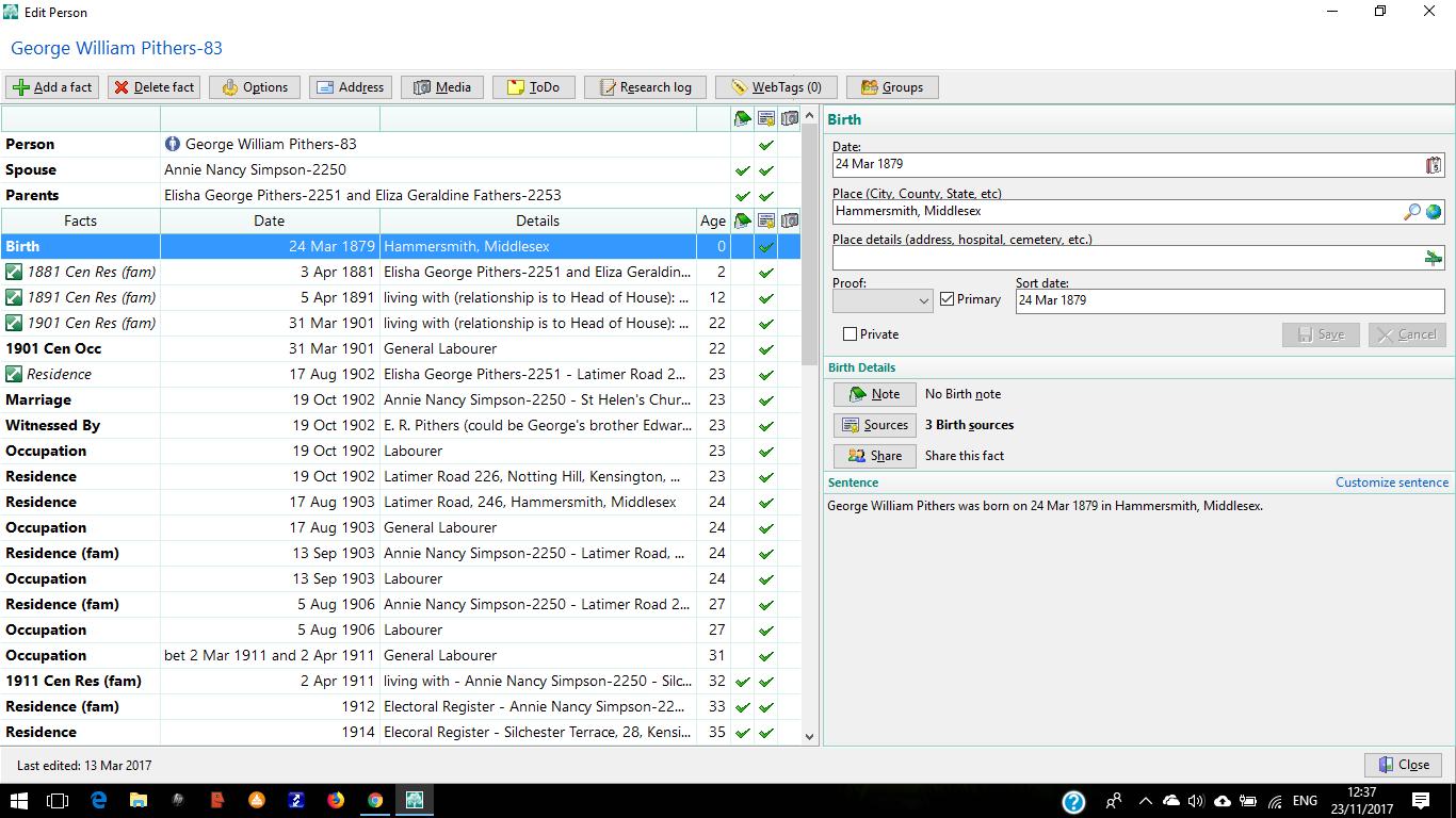 RootsMagic edit person screen