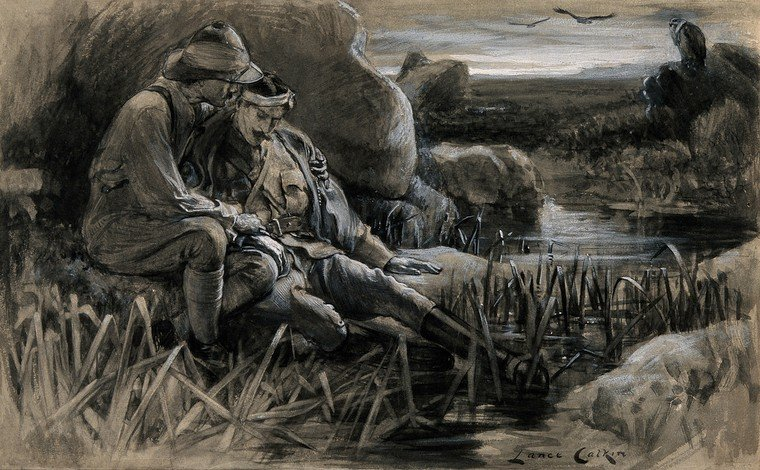 Boer War wounded by Lance Calkin
