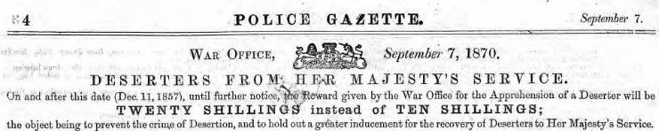 Police Gazette extract