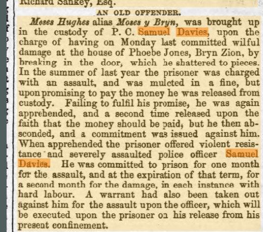 Samuel Livewell Davies newspaper report